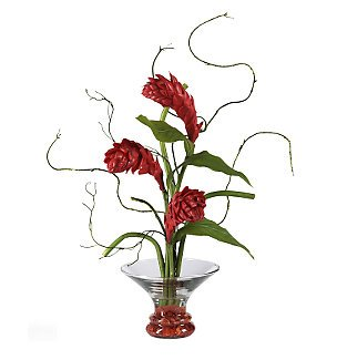 Ginger Torch w/Gourmet Bowl Silk Flowers
