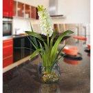 Hyacinth Liquid Illusion Silk Arrangement - White