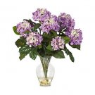 Hydrangea Liquid Illusion Silk Flowers - Lavender
