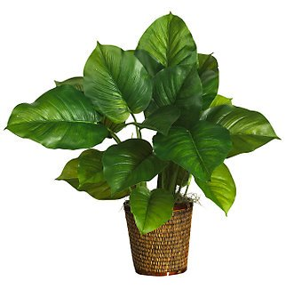 """29"""" Large Leaf Philodendron Silk Plant(Real Touch)"""