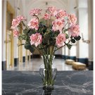 Long Stem Roses Liquid Illusion Silk Flowers - Pink