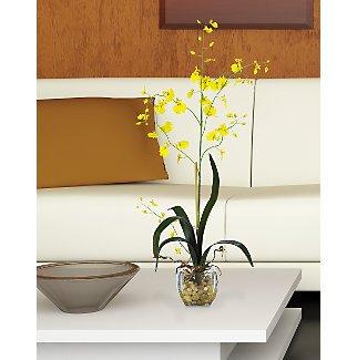 Oncidium Liquid Illusion Silk Orchid Flowers - Yellow