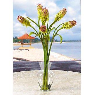 Oriental Ginger L.I. Silk Flowers - Green Lavender