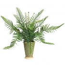 Fern w/Ceramic Vase Silk Plant