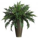 Ruffle Fern w/Vase Silk Plant (Indoor/Outdoor)
