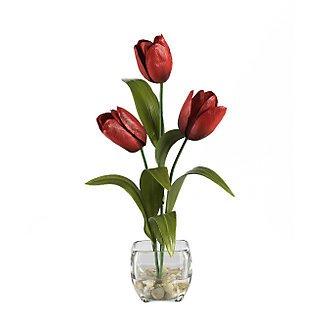 Tulips Liquid Illusion Silk Arrangement - Red