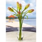 Oriental Ginger L. I. Silk Flowers - Green & Lavender
