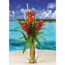 Triple Bromeliad Liquid Illusion - Orange Red