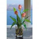 Calla Lilly W/Vase Silk Arrangement - Mauve
