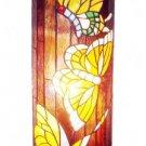 Butterflies Design Tiffany Style Pedestal Lamp