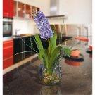 Hyacinth Liquid Illusion Silk Arrangement - Purple