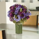 Summer Garden Silk Bouquet - Blue Purple