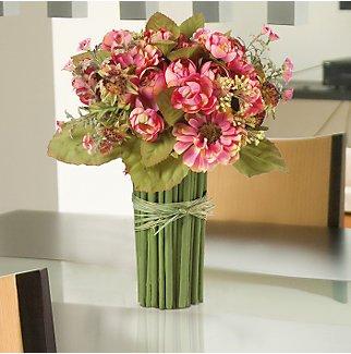 Summer Garden Silk Bouquet - Rose Pink