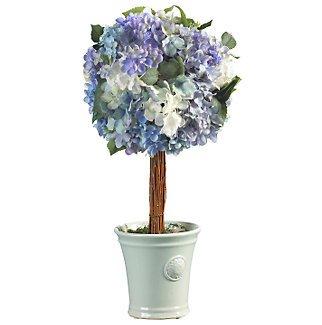 Hydrangea Ball Topiary Silk Flower Arrangement