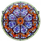 Victorian Round Stained Glass Panel
