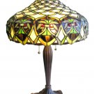 Baroque Tiffany Styled Stained Glass Table Lamp