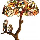 Flowers w/Birds Tiffany Styled Table Lamp