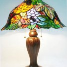 Grapes Leafs Design Tiffany Styled Table Lamp