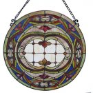 Dazzling Float Round Design Stained Glass Panel