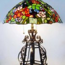 Flowers Tiffany Styled Stained Glass Table Lamp