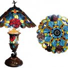 Stunning Roses Tiffany Styled Stained Glass Lamp