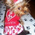 Personalized Heart Dog Dress