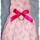 Breast Cancer Awareness Dog Dress - XXS to SM