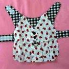 XS Ladybug Dog Harness Pleated Dress / Vest Clothes