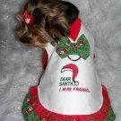 DEAR SANTA Christmas Dog Clothes Dress XS-SM