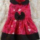 Hugs & Kisses Valentine Dog Dress - Szs XS or SM