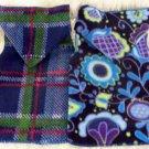 Blue PLAID or FLORAL Dog Snuggly Vest XXS - SM