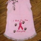 I WALK Breast Cancer Awareness Dog Clothes Dress - 4 sizes