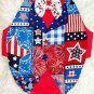 Patriotic Patchwork TUXEDO Dog Clothes Vest - Sz SM