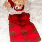 LUMBERJACK Dog Clothes Snuggly Vest XXS - MED