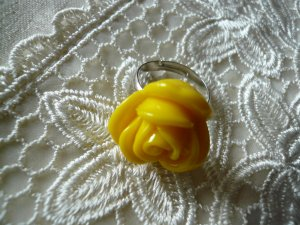 Big Yellow Rose Ring
