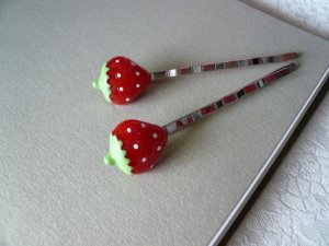 Sweet Strawberry Bobby Hairpins