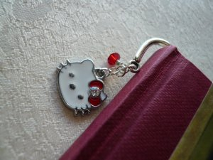 Kitty Cat Red Crystal Bookmark