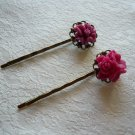 Mulberry Filigree Flower Hairpins
