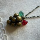 Red Grape Fruit Locket Necklace
