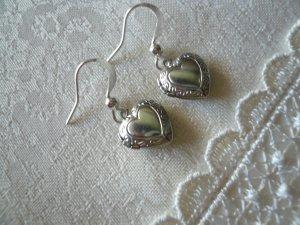 Miniscule Heart Locket Earrings
