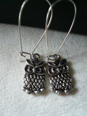 Little Antique Silver Owl Earrings