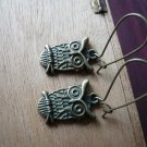 Witty Owl Bronze Earrings