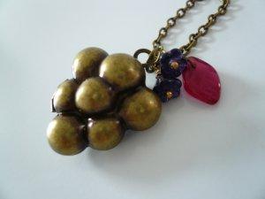 Grape Berry Fruit Locket Necklace