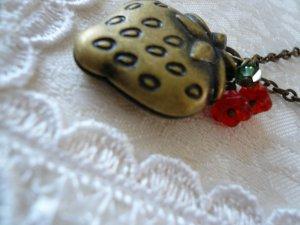 Sweet Strawberry Fruit Locket Necklace