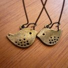 Brass Buddy Birdie Earrings