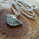 Silver Birdie Short Necklace