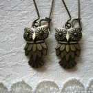 Little Bronze Owl Earrings