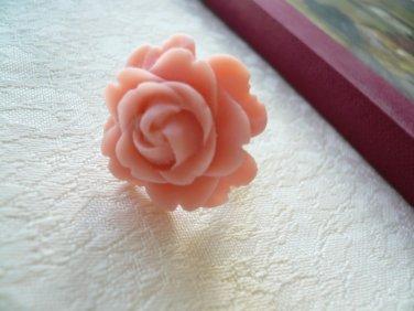 Pink Rose Flower Ring