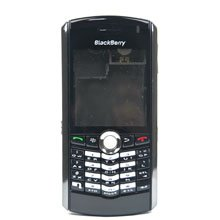 BlackBerry Pearl 8100 Complete Set Housing Faceplate Cover Black
