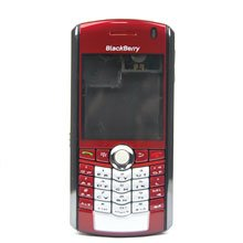 BlackBerry Pearl 8100 Complete Set Housing Faceplate Cover Red